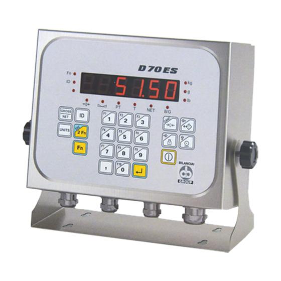 Imagem do indicador de peso para sistema de pesagem industrial - D70ES