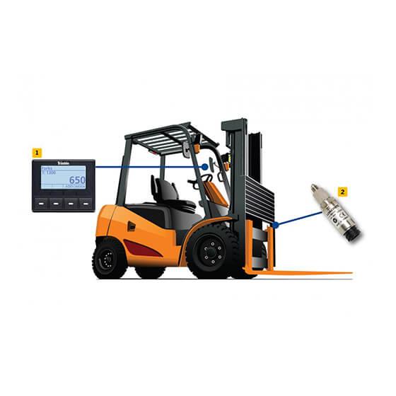 Imagem do controlador de empilhador para evitar multa de excesso de peso - S1100