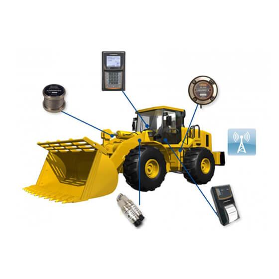 Imagem da balança integrada em máquina para escavação - L2150